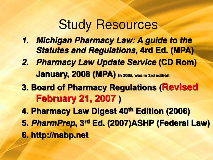 Study resources