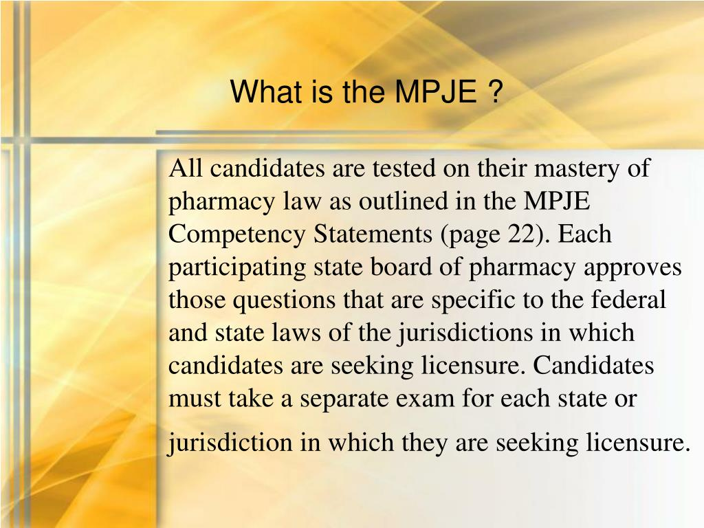 What is the MPJE ?