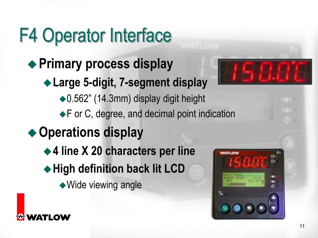 F4 Operator Interface