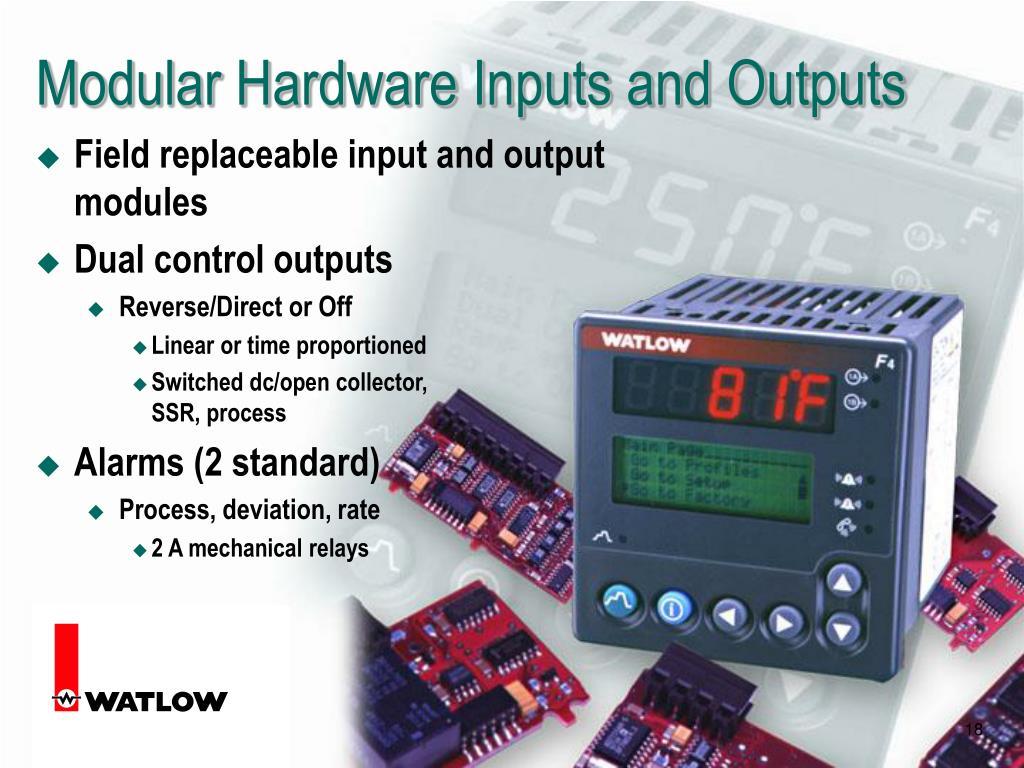 Modular Hardware Inputs and Outputs