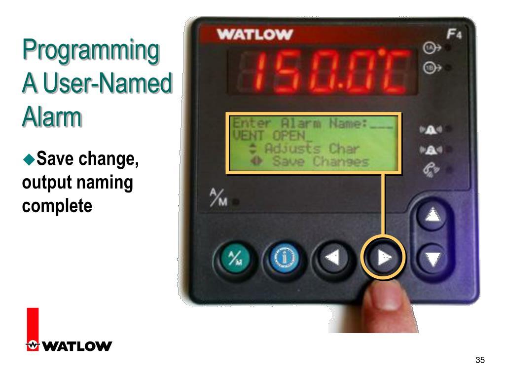 Programming A User-Named
