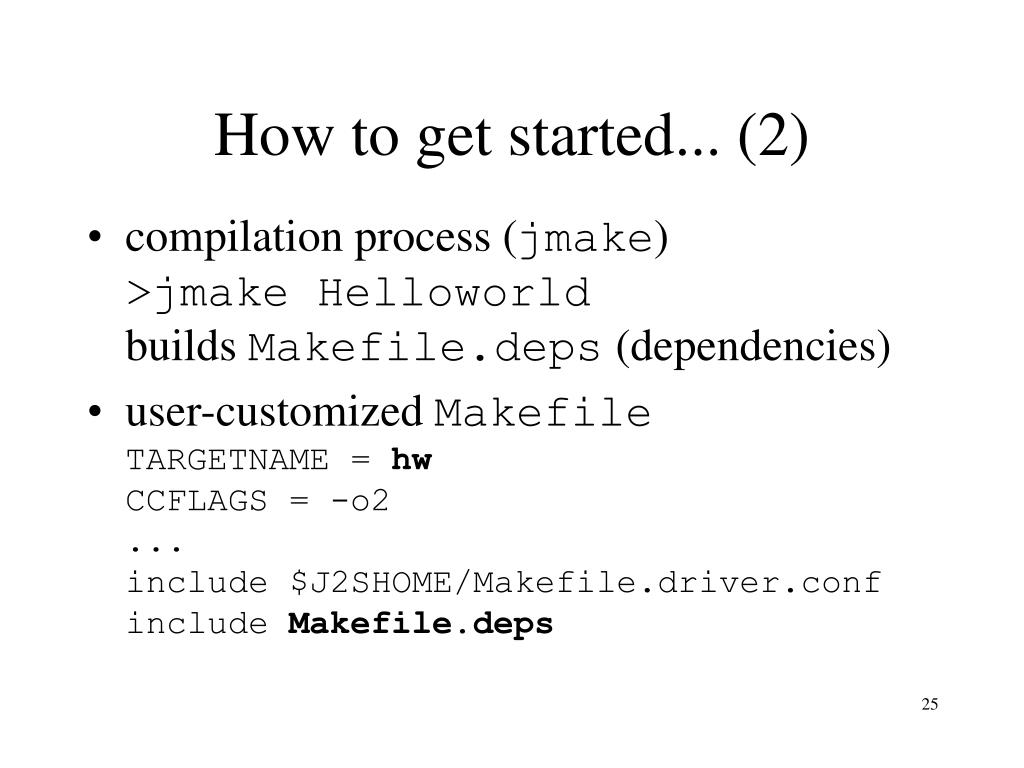 How to get started... (2)