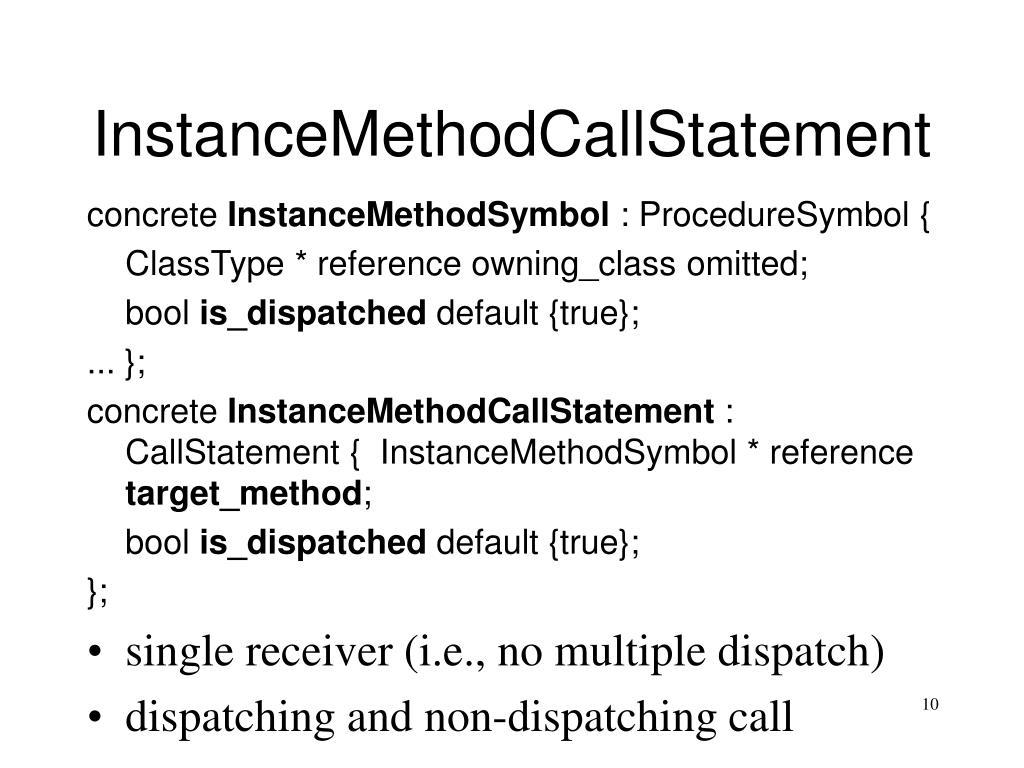 InstanceMethodCallStatement
