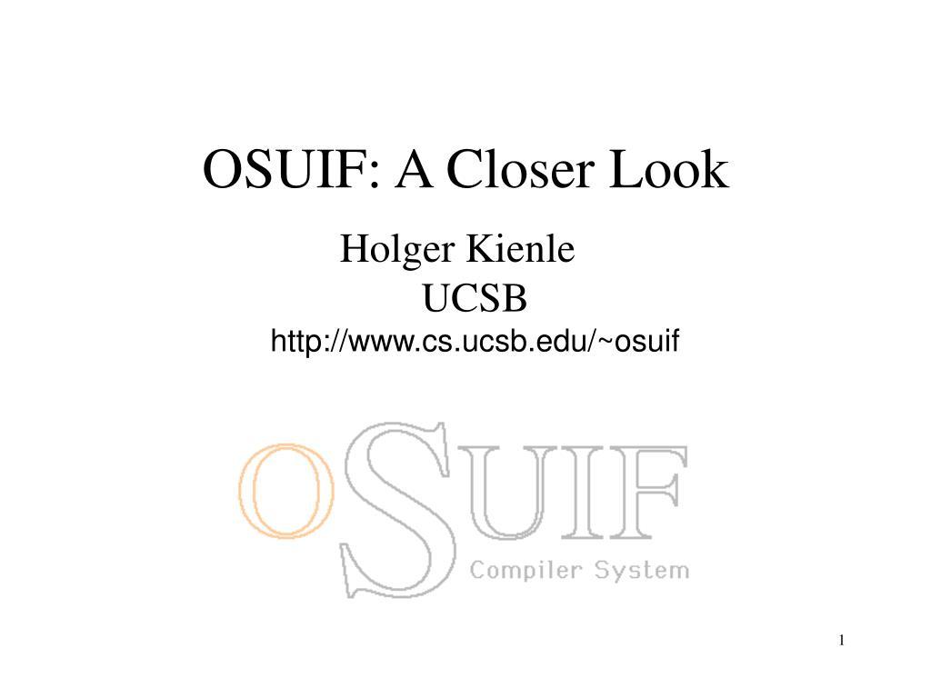 OSUIF: A Closer Look