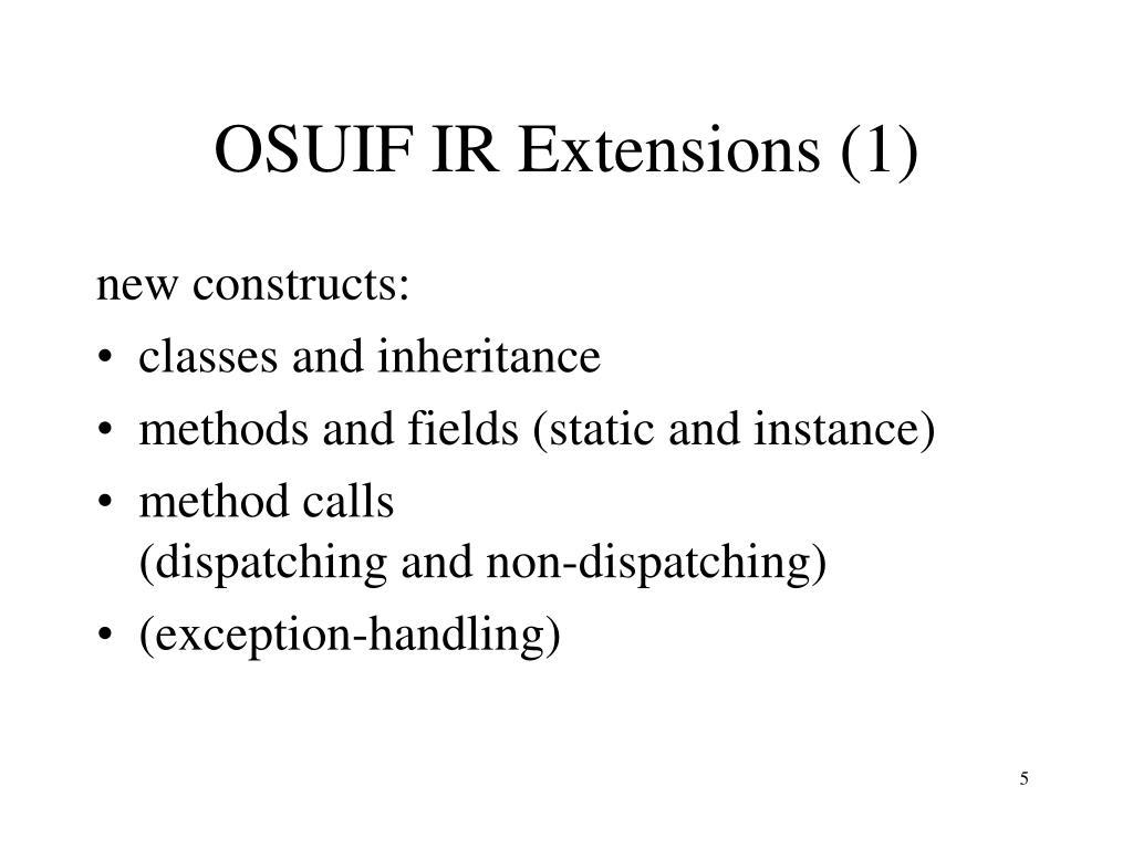 OSUIF IR Extensions (1)
