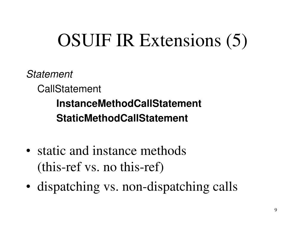 OSUIF IR Extensions (5)