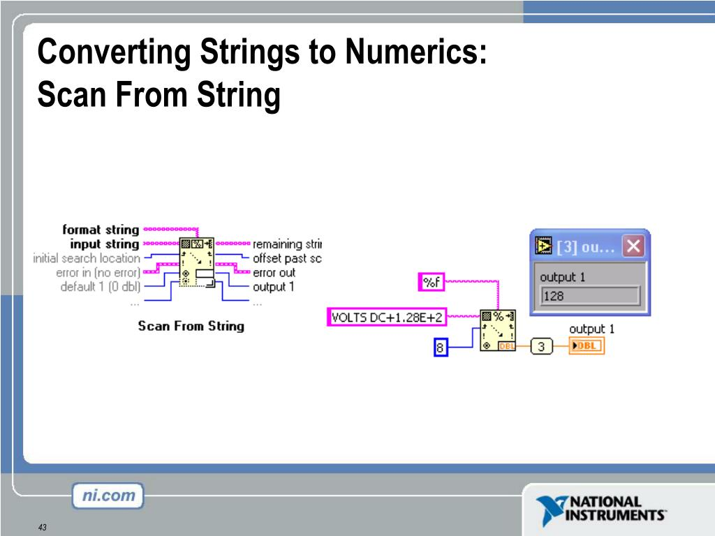 Converting Strings to Numerics: