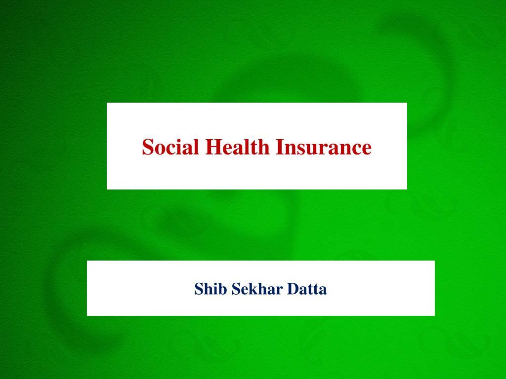 Social Health Insurance