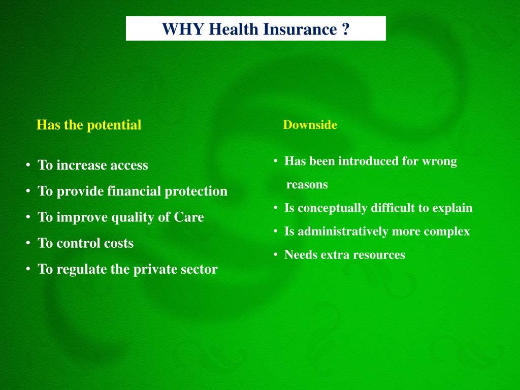 WHY Health Insurance ?