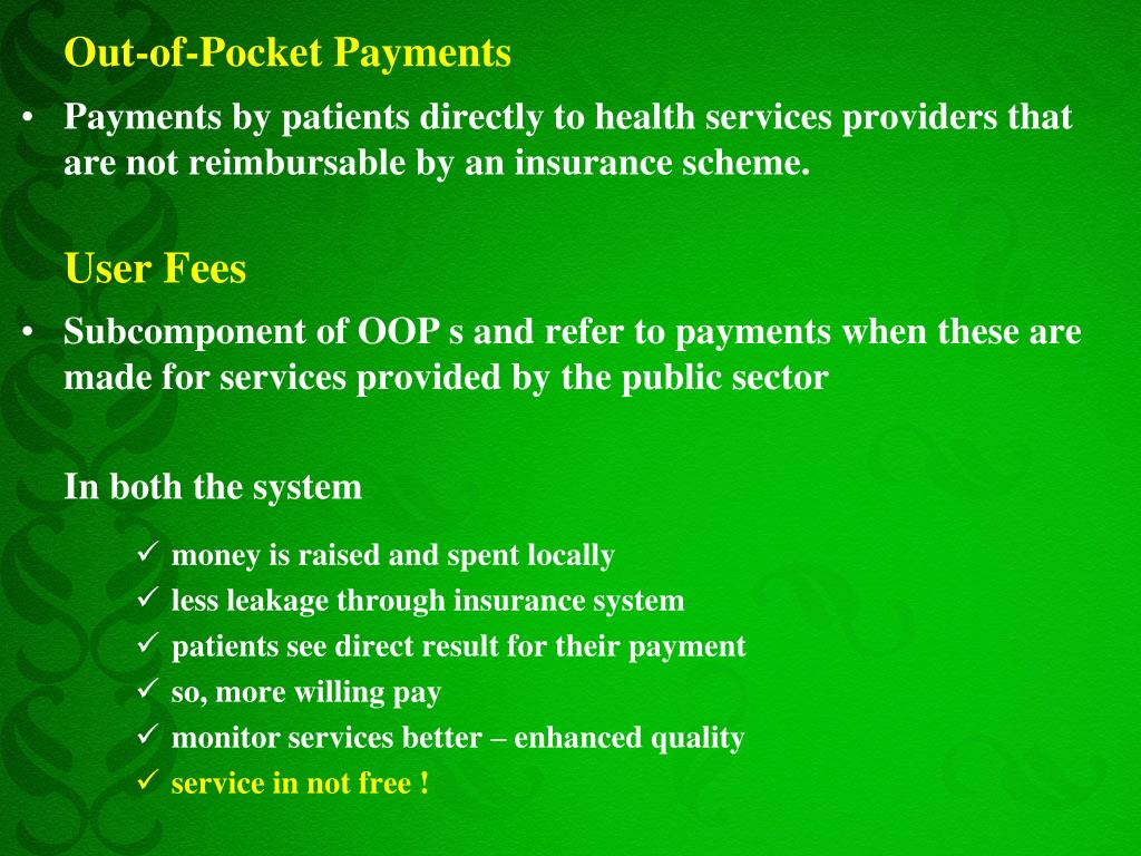 Out-of-Pocket Payments