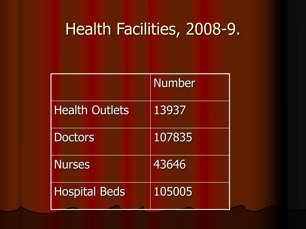 Health Facilities, 2008-9.