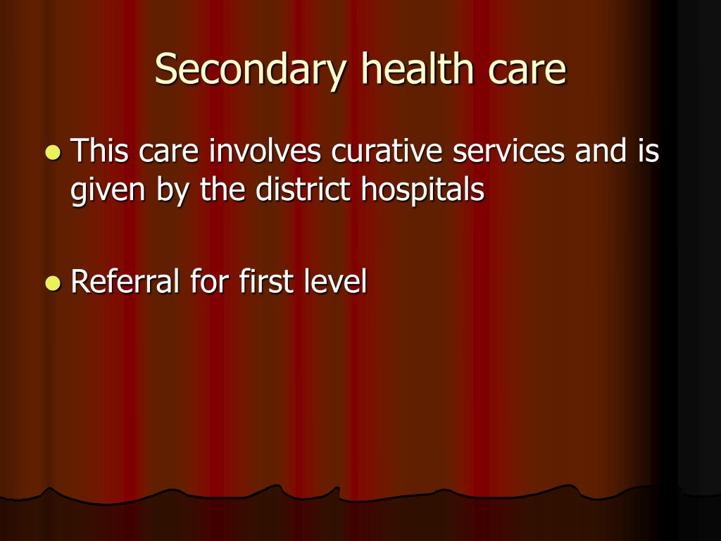 Secondary health care
