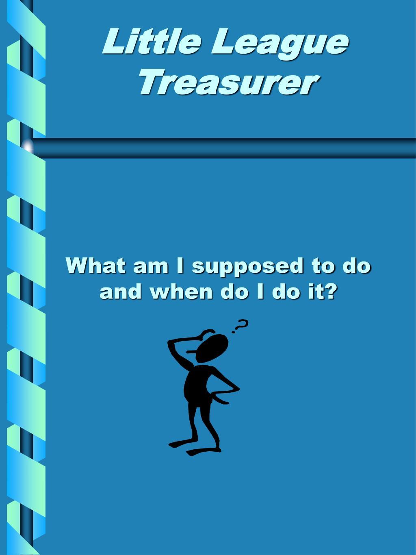 Little League Treasurer