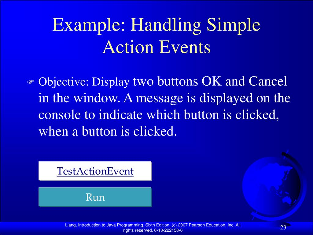 Example: Handling Simple Action Events