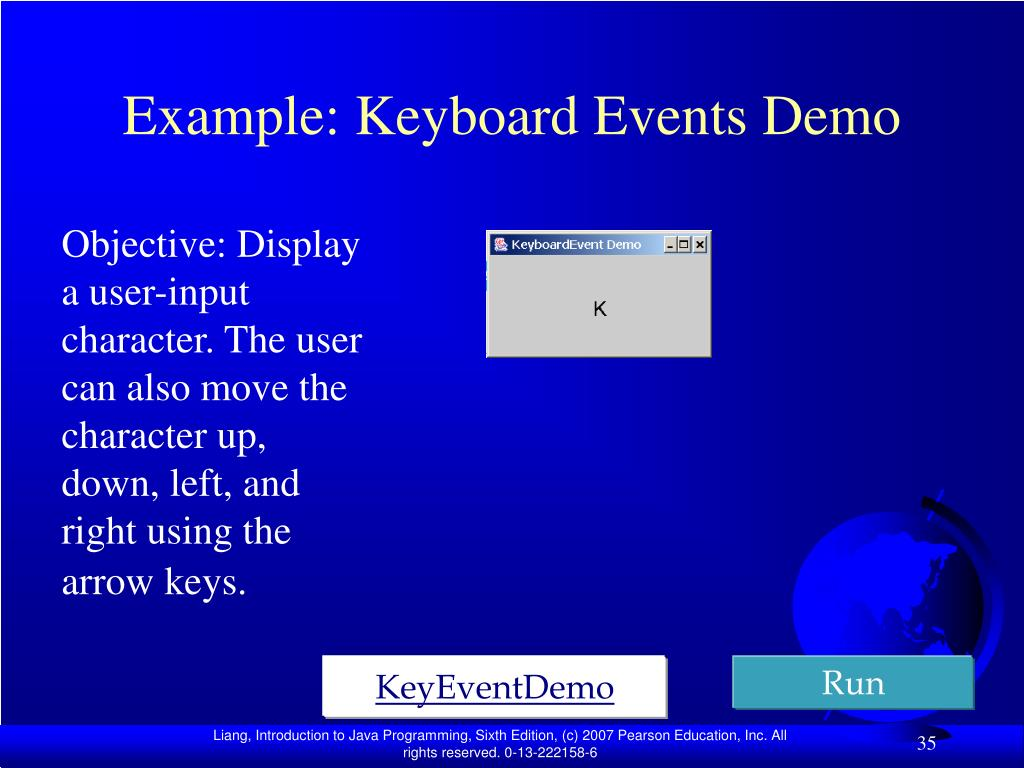 Example: Keyboard Events Demo