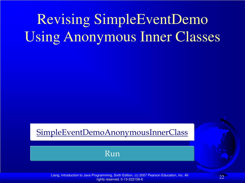 Revising SimpleEventDemo Using Anonymous Inner Classes
