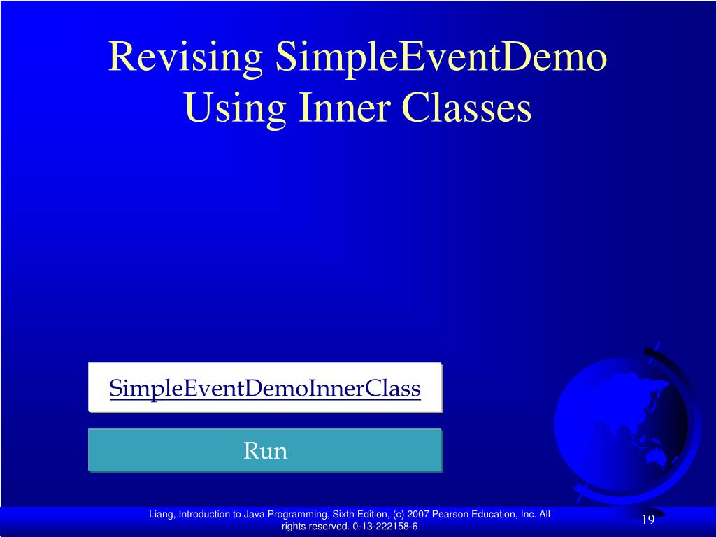 Revising SimpleEventDemo Using Inner Classes