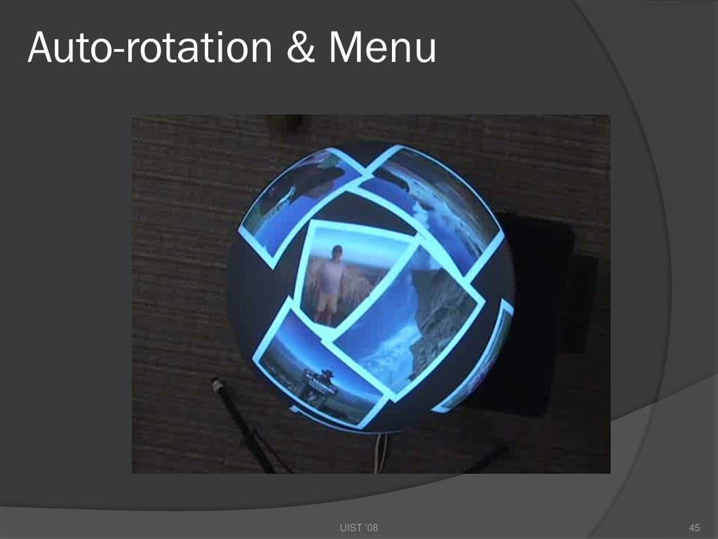 Auto-rotation & Menu