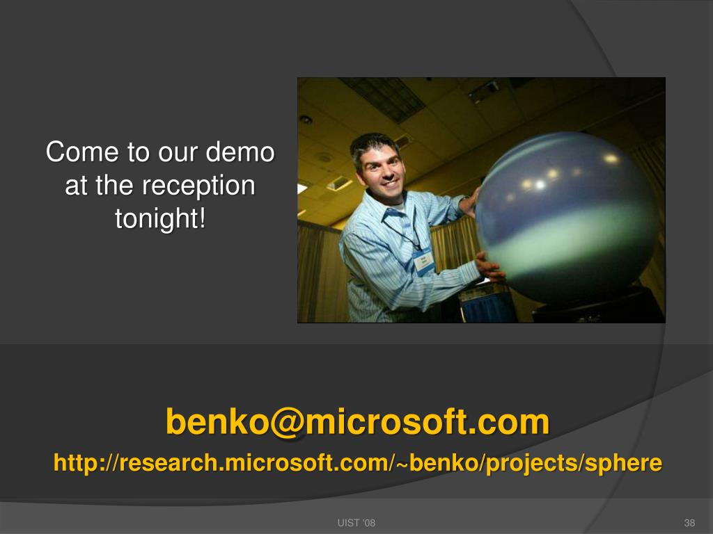 Come to our demo at the reception tonight!
