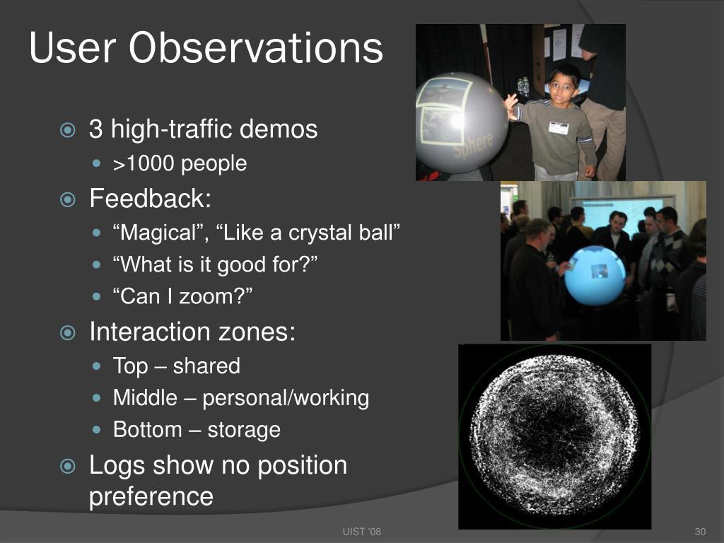 User Observations