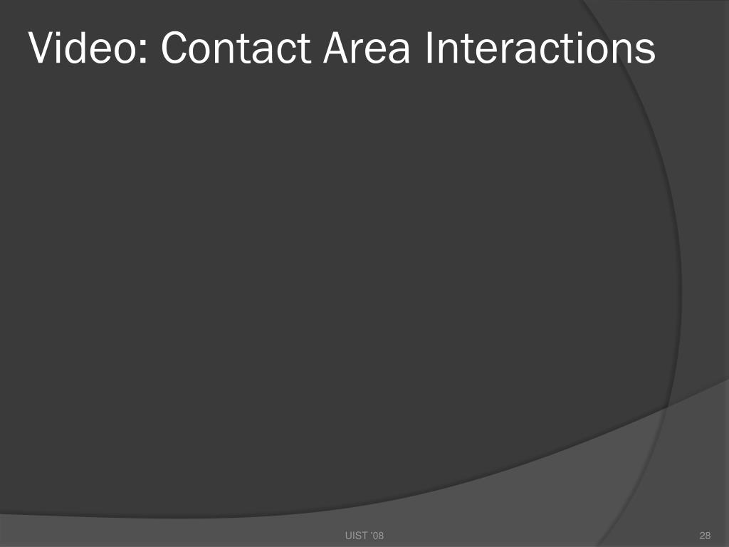 Video: Contact Area Interactions