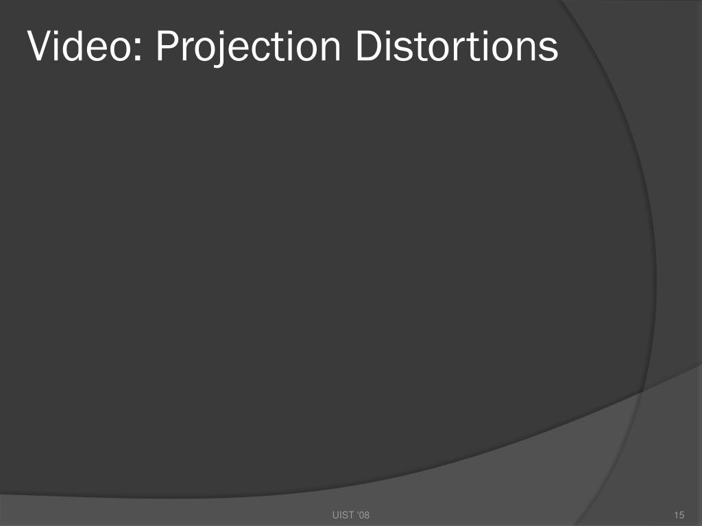 Video: Projection Distortions