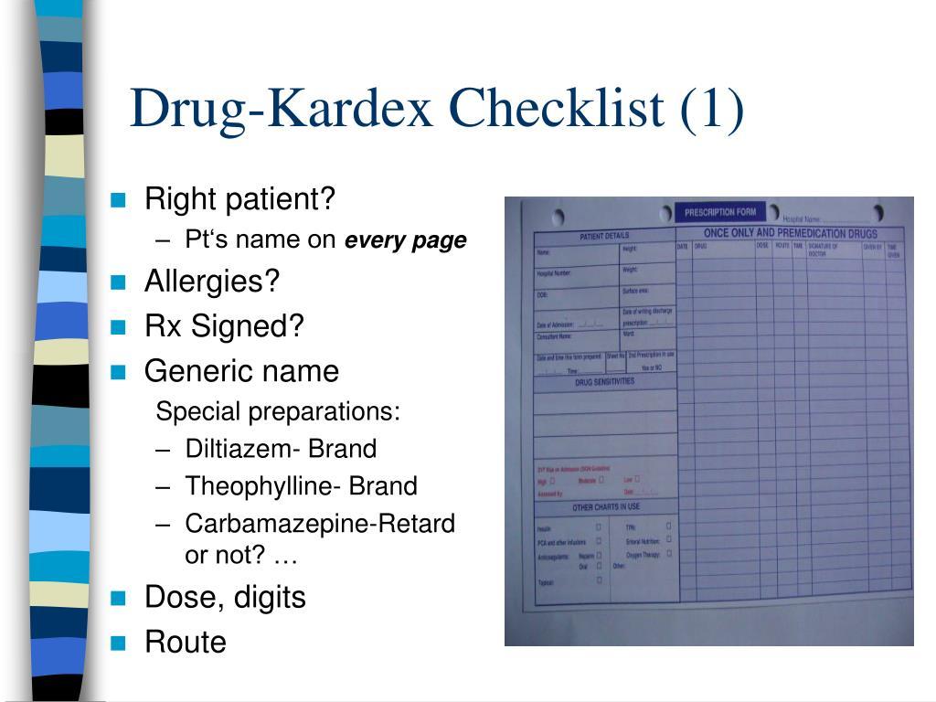 Drug-Kardex Checklist (1)