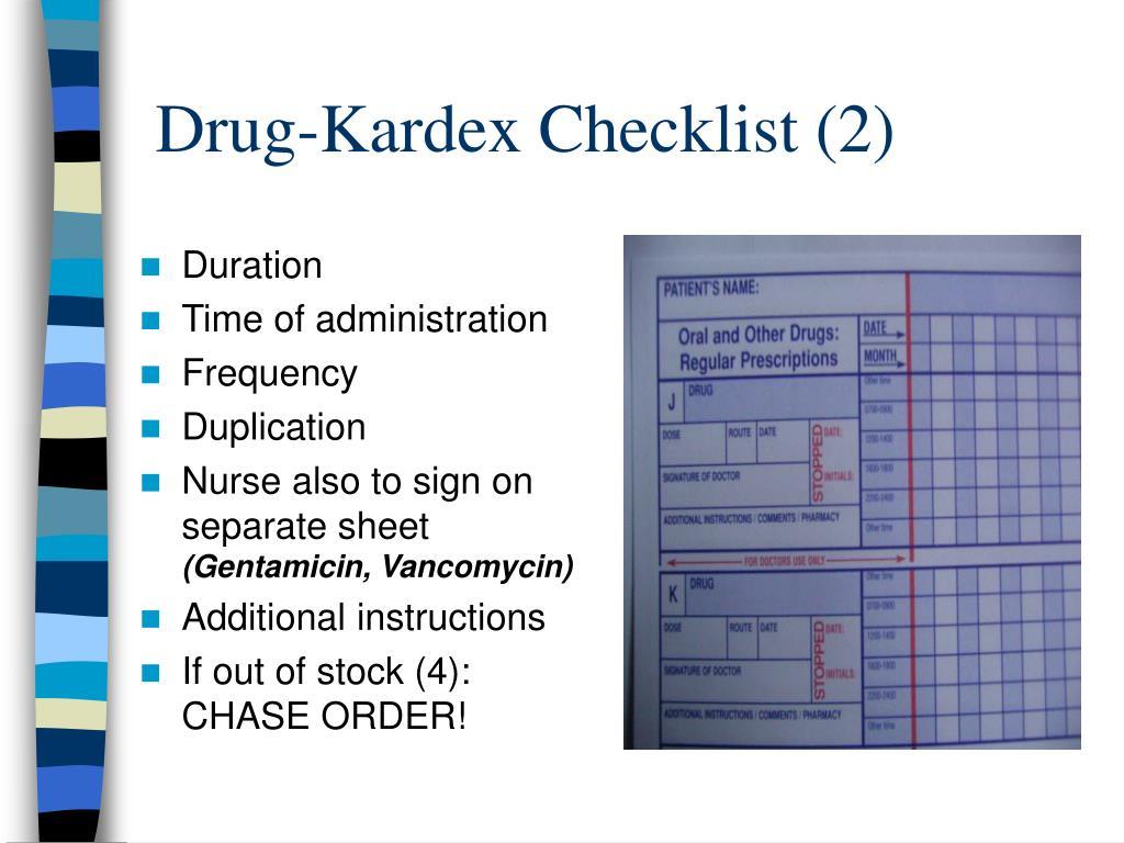 Drug-Kardex Checklist (2)