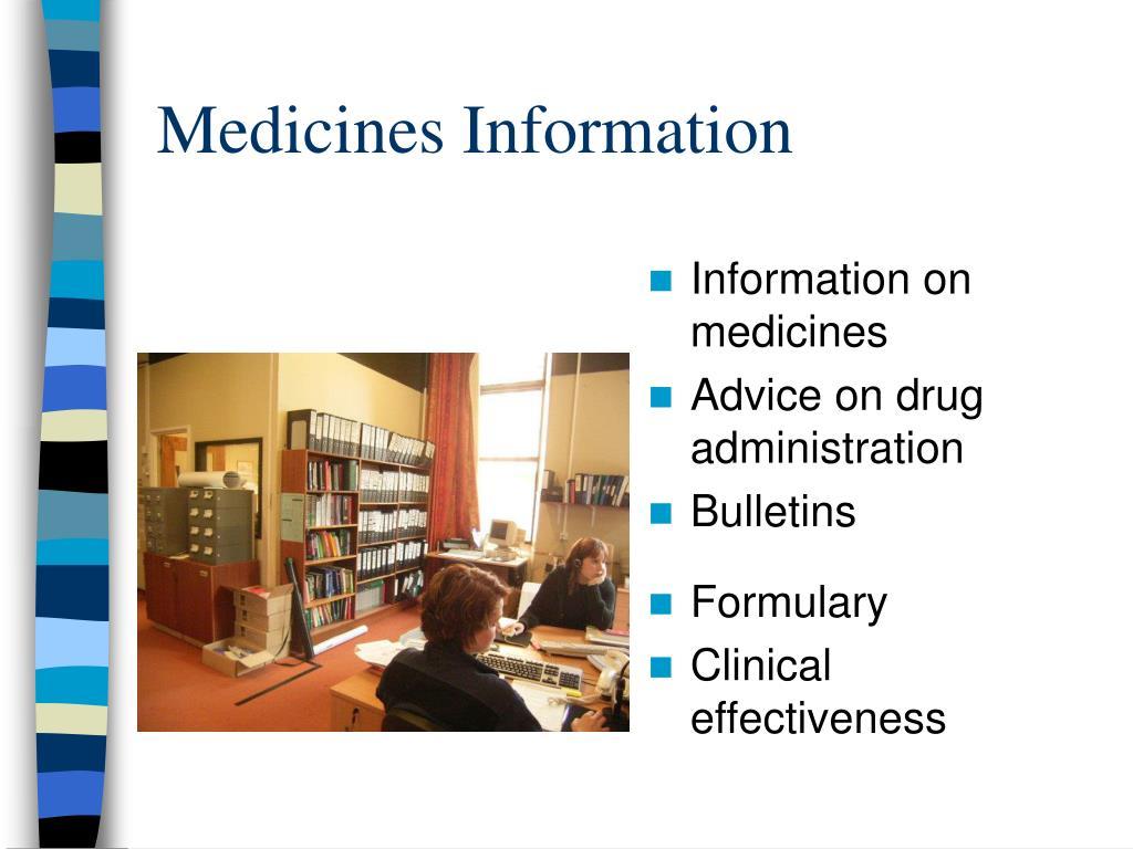 Medicines Information