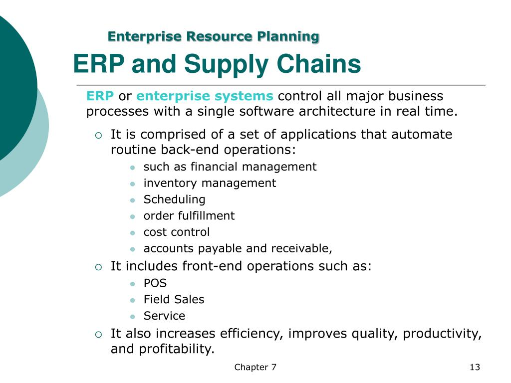 ERP and Supply Chains