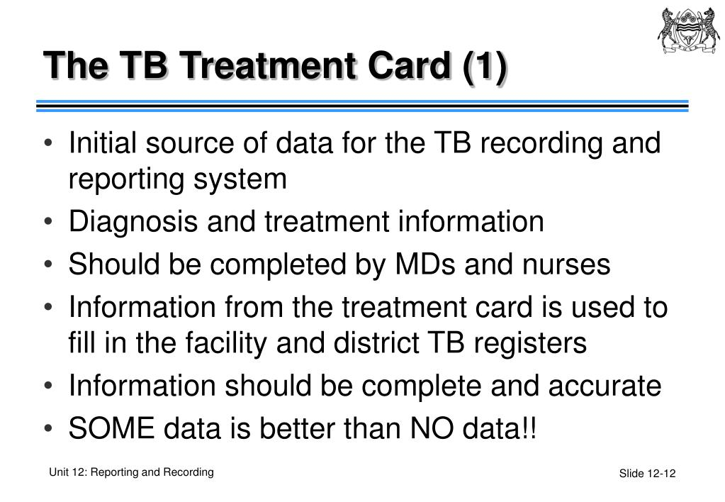 The TB Treatment Card (1)