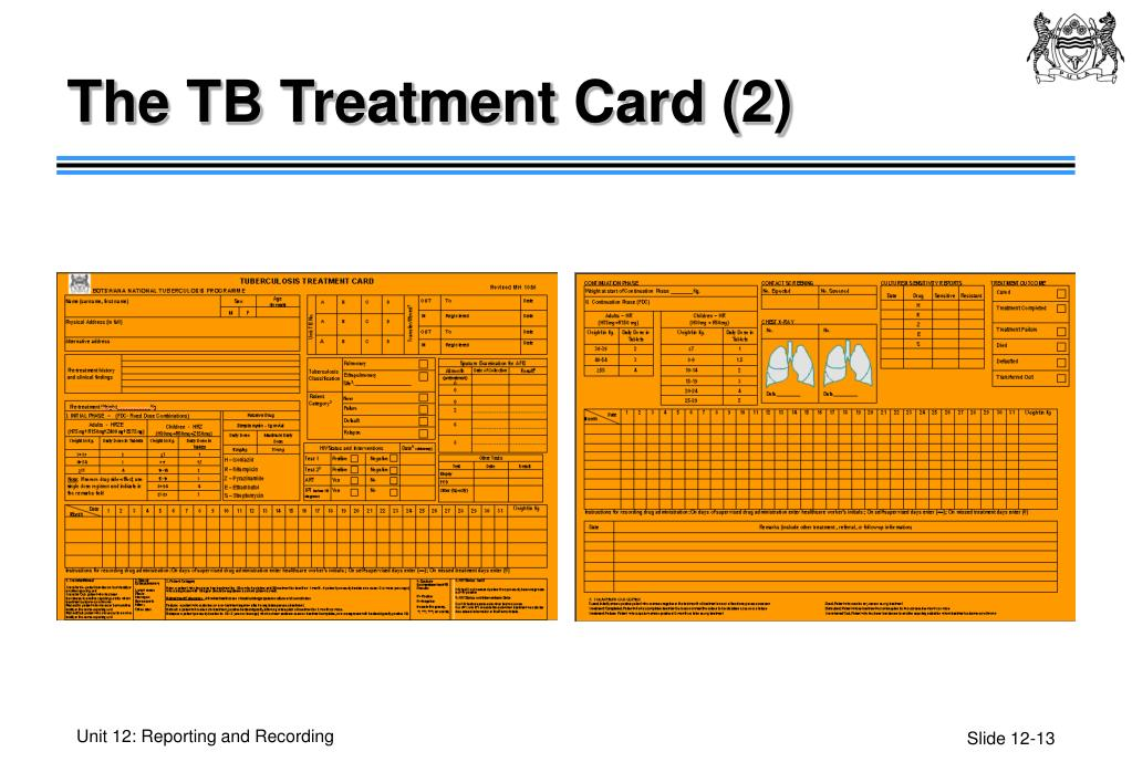 The TB Treatment Card (2)