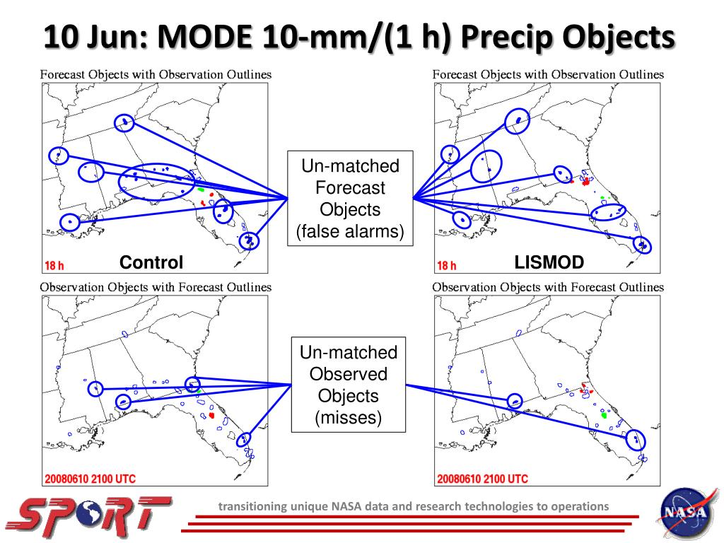 10 Jun: MODE 10-mm/(1 h) Precip Objects