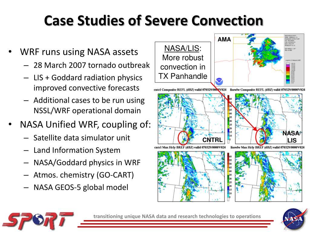 Case Studies of Severe Convection