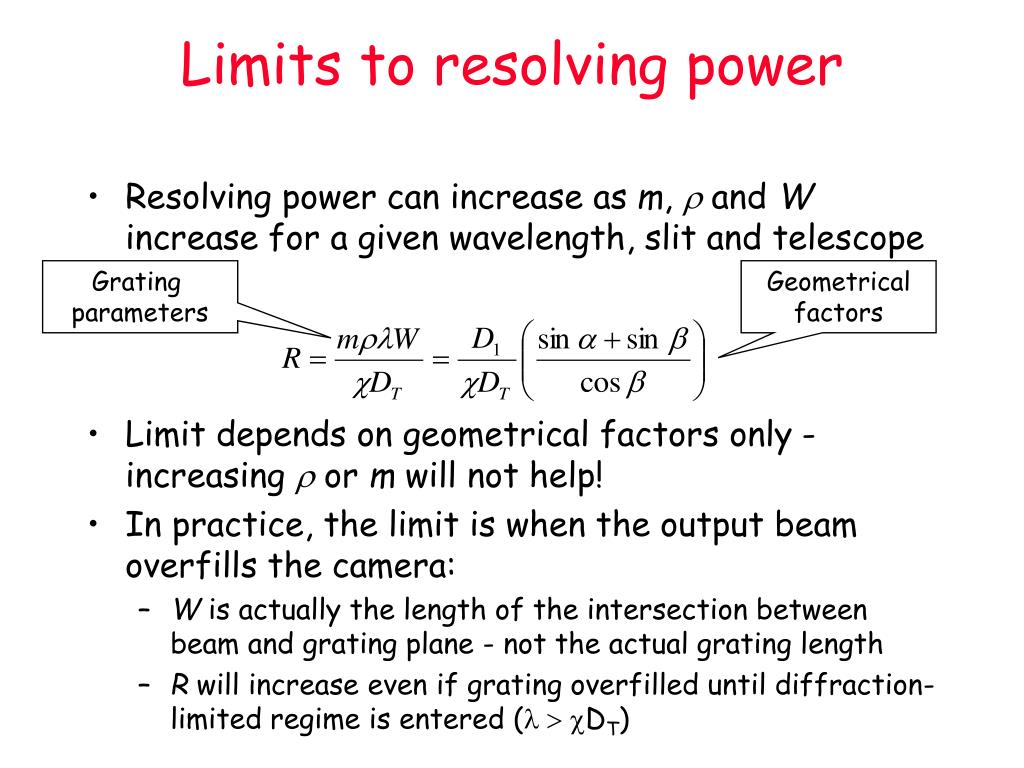 Limits to resolving power