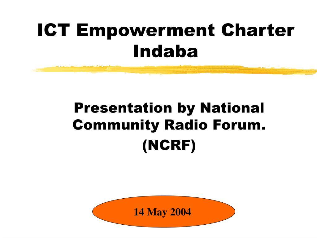 ICT Empowerment Charter Indaba