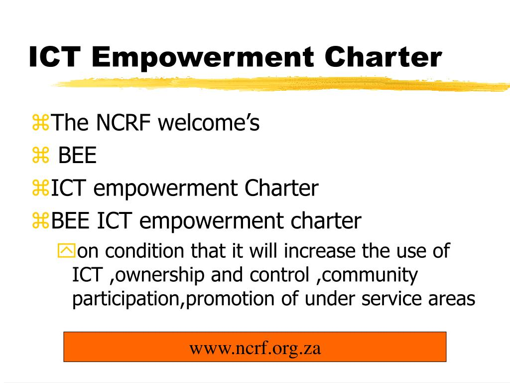 ICT Empowerment Charter