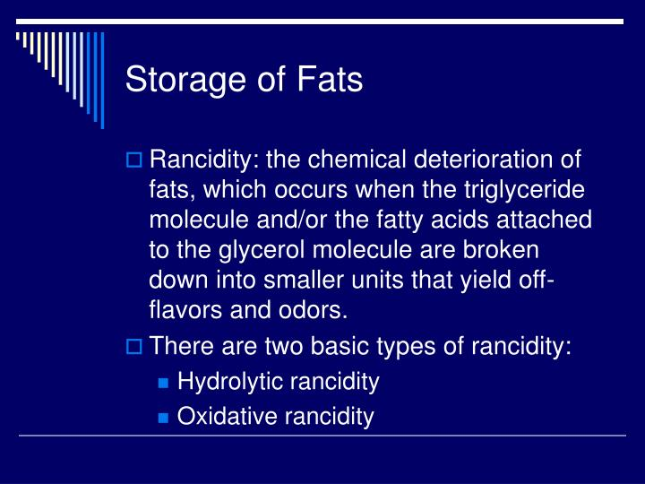 Storage of Fats