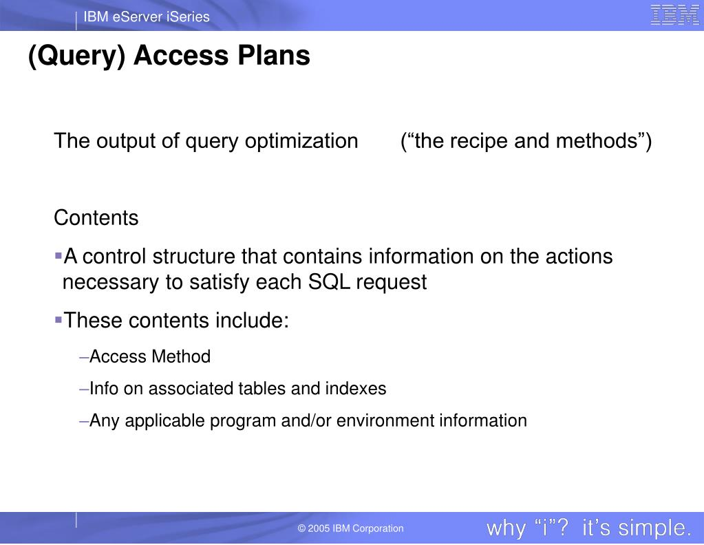 (Query) Access Plans