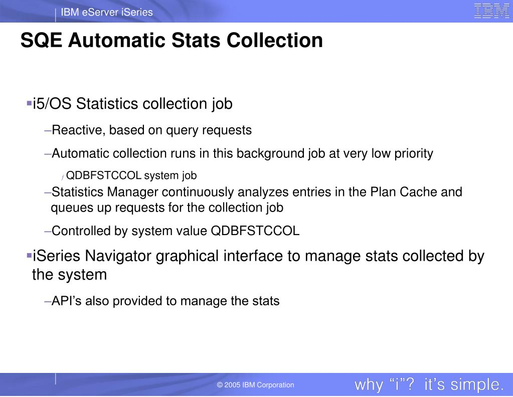 SQE Automatic Stats Collection