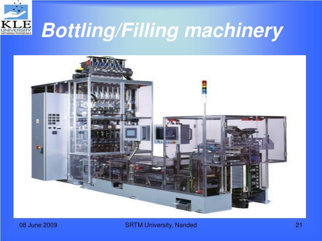 Bottling/Filling machinery