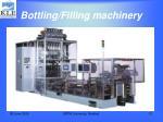 bottling filling machinery