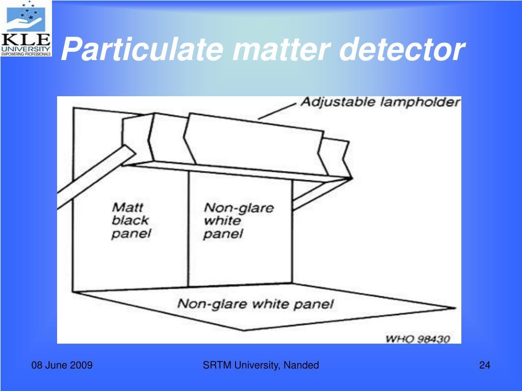 Particulate matter detector