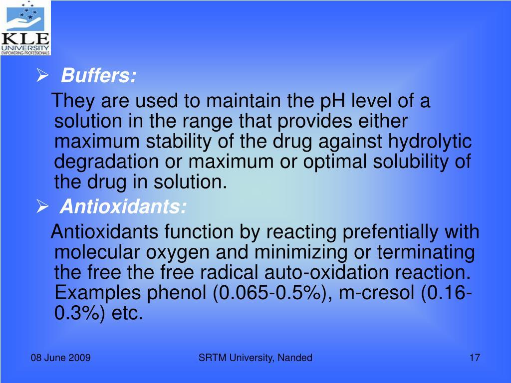 Buffers: