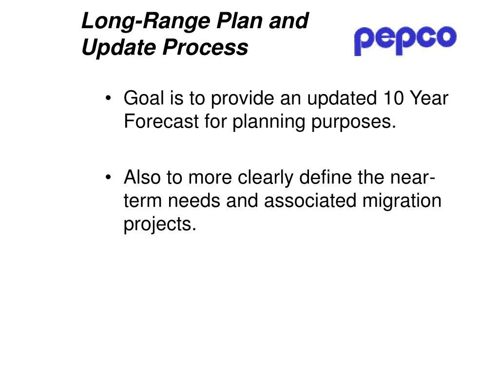 Long-Range Plan and Update Process