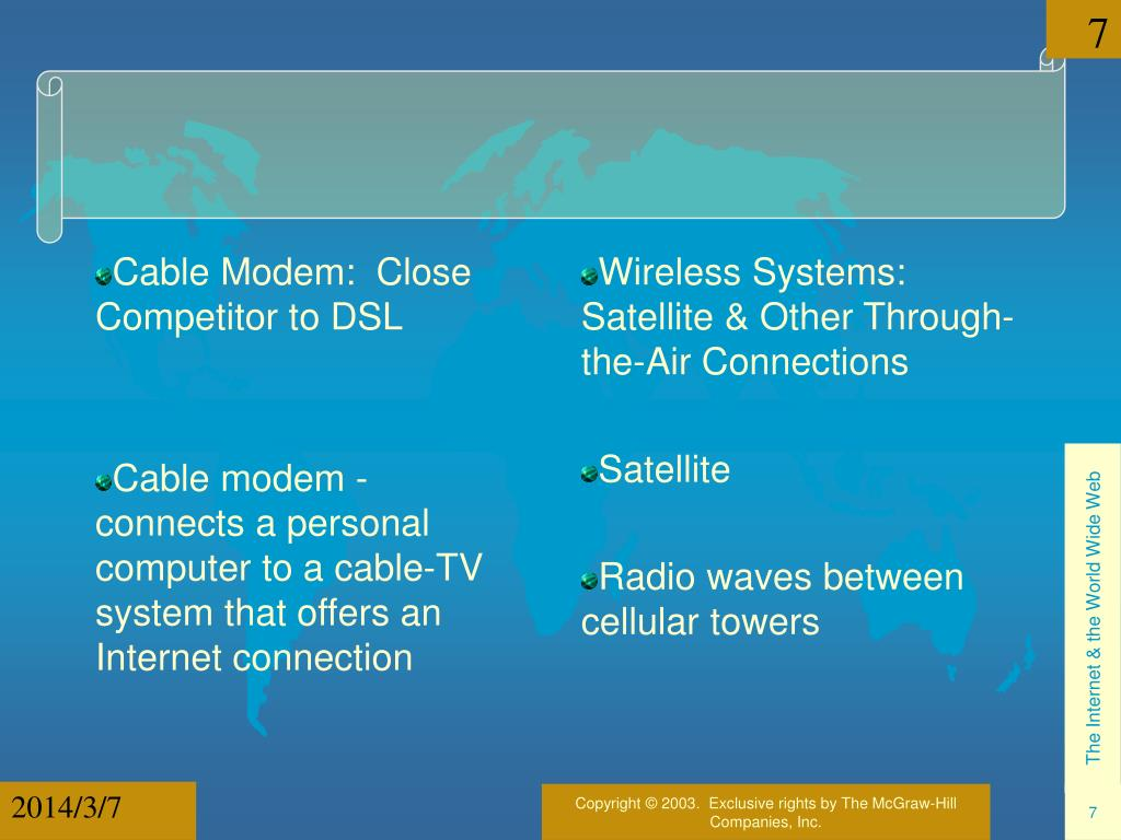 Cable Modem:  Close Competitor to DSL