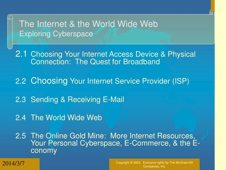 The internet the world wide web exploring cyberspace