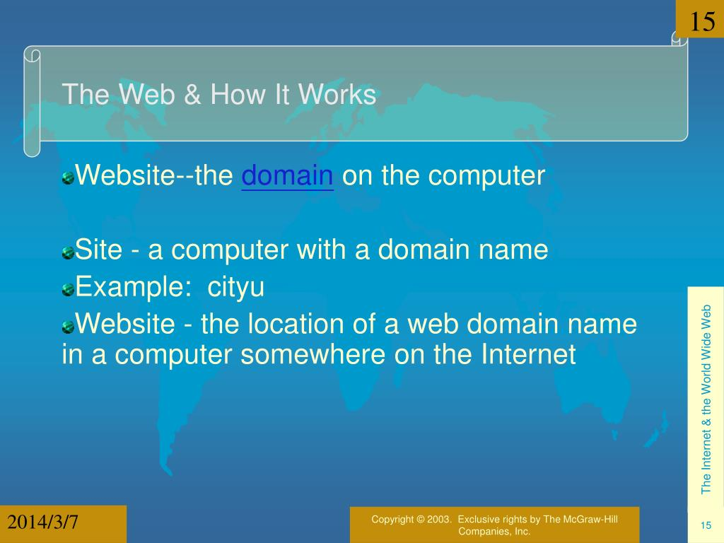 The Web & How It Works