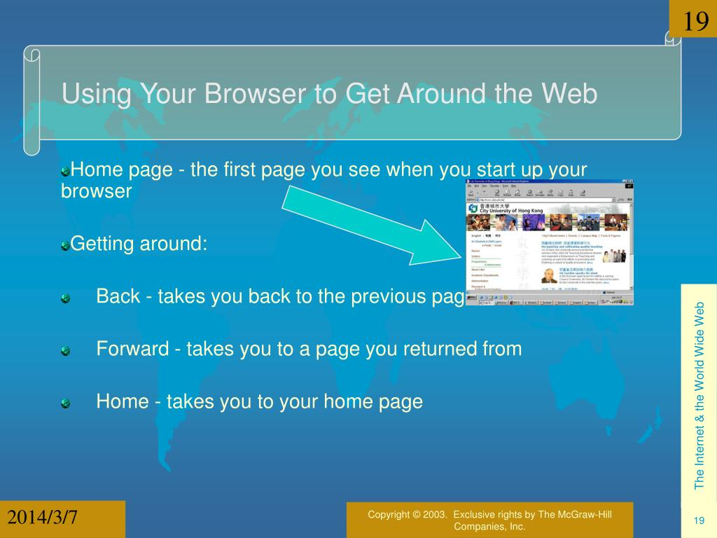 Using Your Browser to Get Around the Web