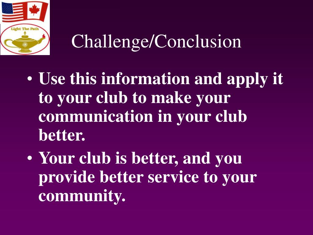 Challenge/Conclusion